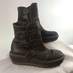 Fly London Brown Leather Jota Boot